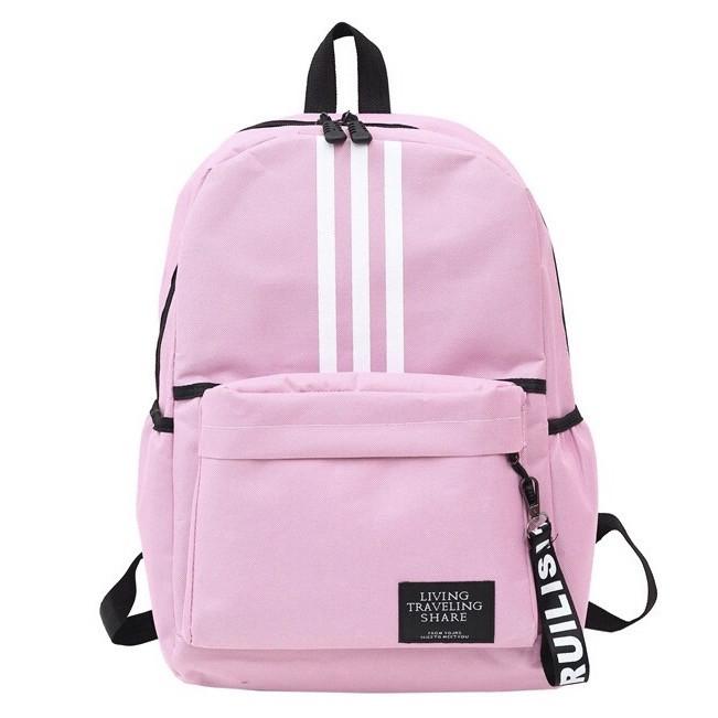 Рюкзак великий TRAVEL жіночий шкільний портфель рожевий 42х29х13 см