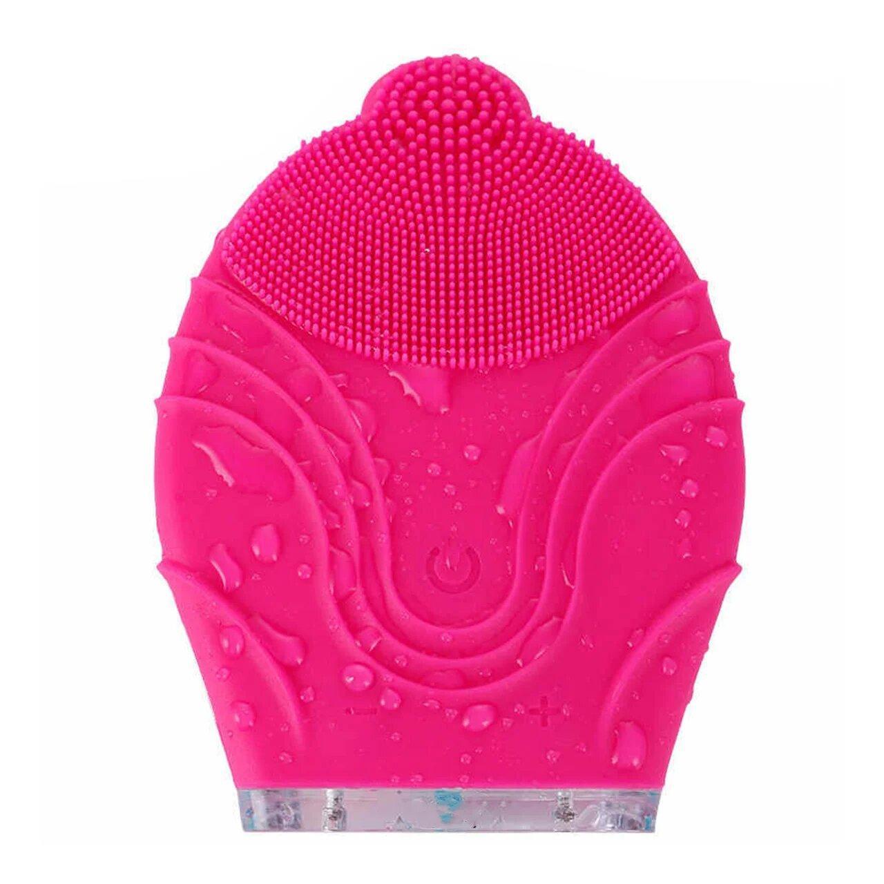 Силиконовая щетка-массажер Kingdom KD-308 для чистки лица Pink (4123-12012)