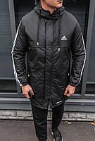 Куртка зимняя мужская, мужская парка адидас, зимние мужские куртки