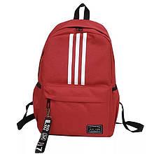 Рюкзак большой TRAVEL мужской женский школьный портфель красный