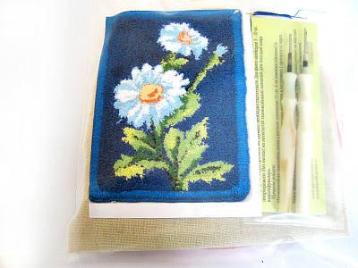 Набор Универсал для рукоделия (техника ковровой вышивки) 2 иглы «Ромашки» Разноцветный (32)