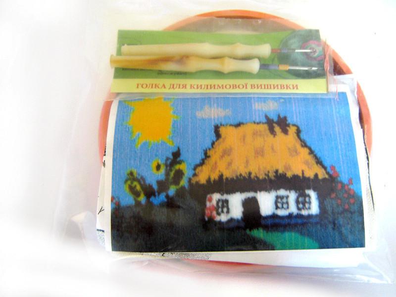 Набір Універсал для «килимовій вишивки» 2 голки «Будиночок» Різнобарвний (35)