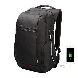 Рюкзак городской Kingsons KS3140W с USB портом Черный (4204-12268)