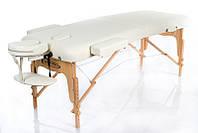 Портативный массажный стол складной 2 секции деревянный каркас механическая регулировка RESTPRO VIP 2 ваниль