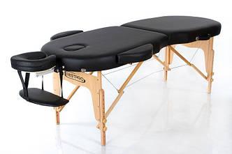 Складной массажный стол деревянный с округленными углами 2-х секционный  RESTPRO VIP OVAL 2 Черный