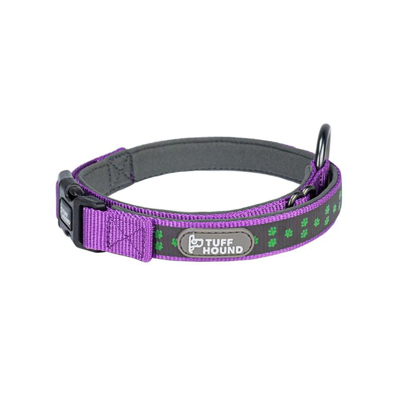 Светоотражающий ошейник для собак TUFF HOUND 1537 Purple M с утяжкой (5317-16512)
