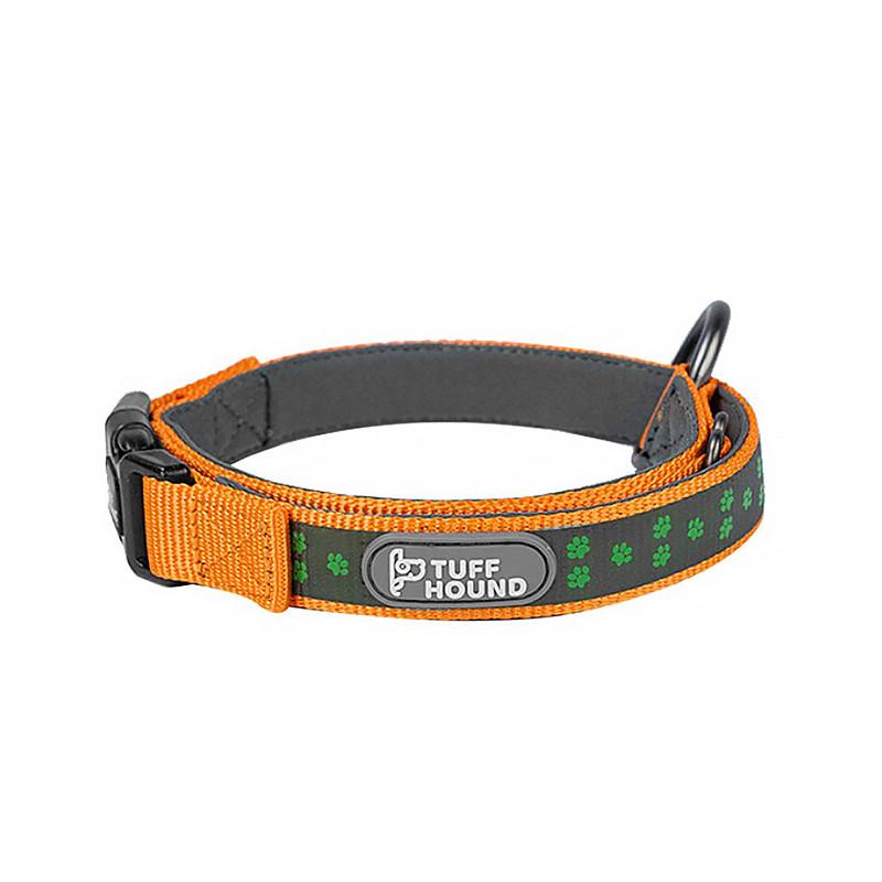 Светоотражающий ошейник для собак TUFF HOUND 1537 Orange XS с утяжкой (5317-16510)