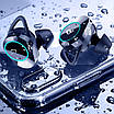 Бездротова гарнітура KUMI T3S Black Bluetooth 5.0 вологозахищена сенсорна з зарядним кейсом (3564-9948), фото 6