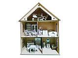 Дерев'яний будиночок для ляльок з меблями, фото 2
