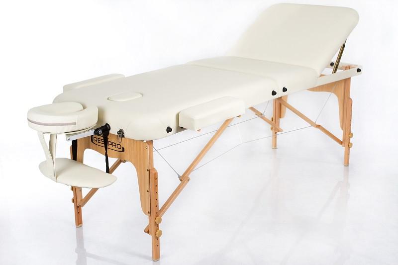 Кушетка Масажний стіл складний для масажу для нарощування вій для салону краси RESTPRO VIP 3 Бежевий