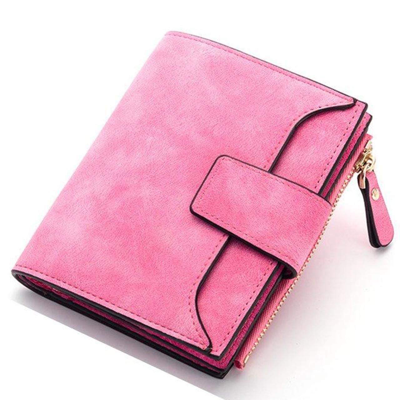 Женский кошелек Baellerry N2347 замшевый Pink (3536-10250)