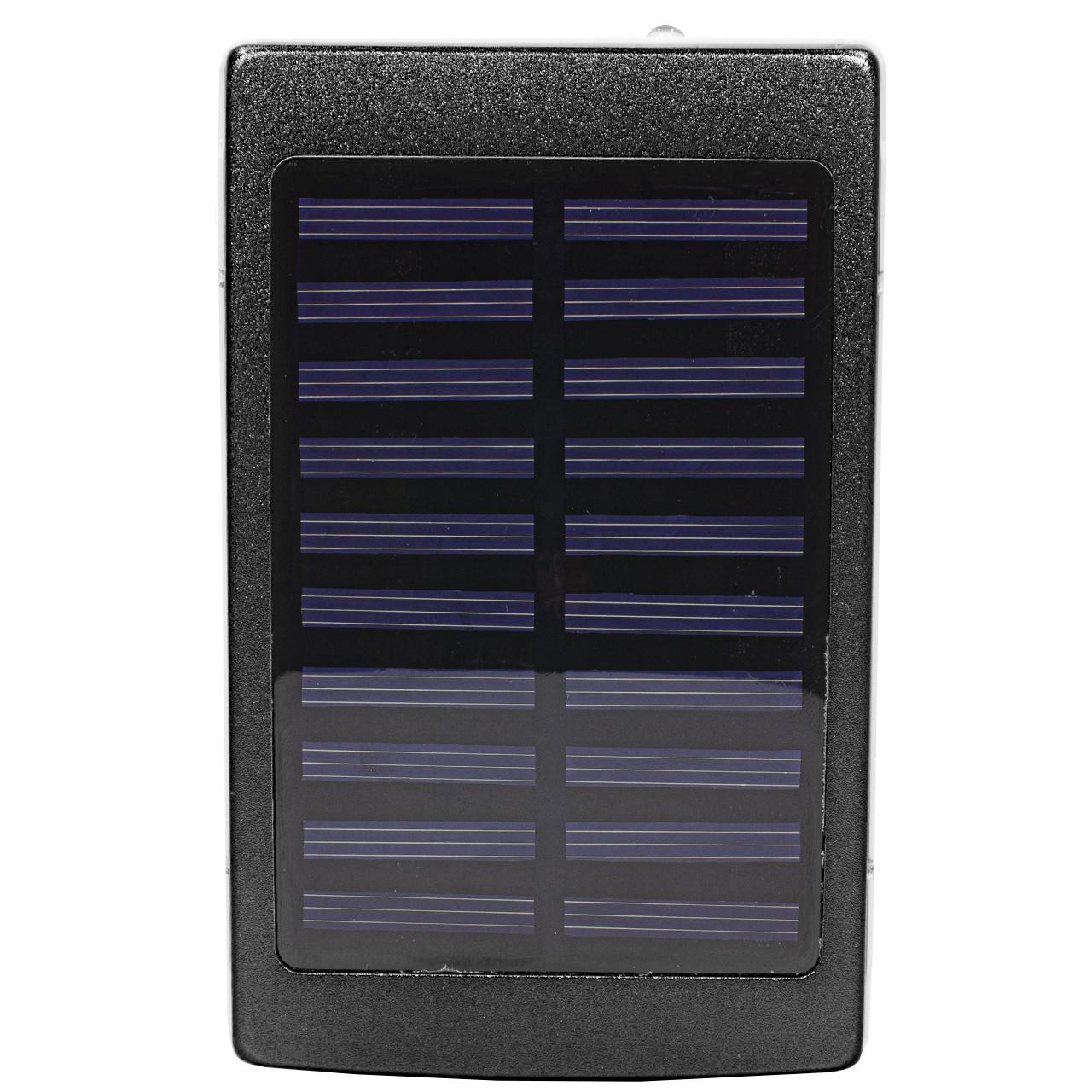 Зовнішній акумулятор Power bank Solar PB-6 з сонячною панеллю 6000 мАч стробоскоп Black