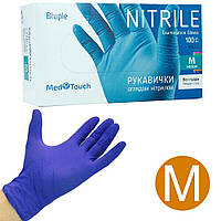 Перчатки нитриловые Med Touch без пудры M 100 шт