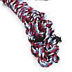 Игрушка Веревочная Ящерица Hoopet W032 для домашних животных Red + Black + Blue + White (5297-18105), фото 2