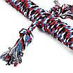 Игрушка Веревочная Ящерица Hoopet W032 для домашних животных Red + Black + Blue + White (5297-18105), фото 4