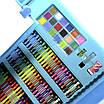 Набір для дитячої творчості та малювання Lesko Super Mega Art Set 208 предметів Blue (4696-13585), фото 2