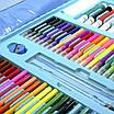 Набір для дитячої творчості та малювання Lesko Super Mega Art Set 208 предметів Blue (4696-13585), фото 3