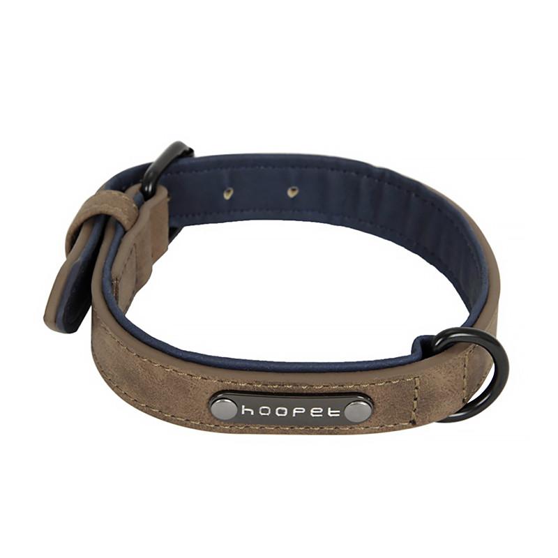 Нашийник двошаровий для собак Hoopet W033 M Coffee (5293-18139)