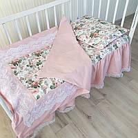 """Постельное в кроватку """" роза"""", фото 1"""