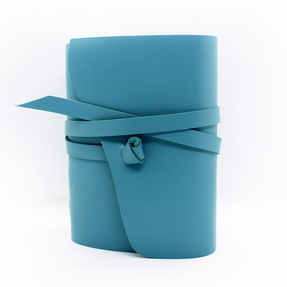 Шкіряний блокнот COMFY STRAP В6 12.5 х 17.6 х 3.5 см Чистий аркуш Бірюзовий (043)