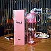 Спортивная бутылка для воды Lesko DF-078 с распылителем 600ml Розовый (4900-14385), фото 4
