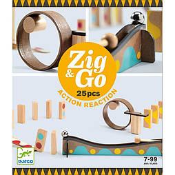 Деревянный конструктор DJECO Zig & Go 25 деталей