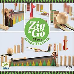 Деревянный конструктор DJECO Zig & Go 27 деталей