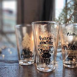 Набір склянок Merry Christmas, 300 мл, 3 шт