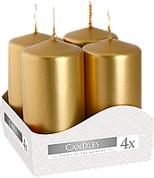 Декоративные свечи, комплект из 4-х шт BISPOL sw40/80-x золото (8 см)