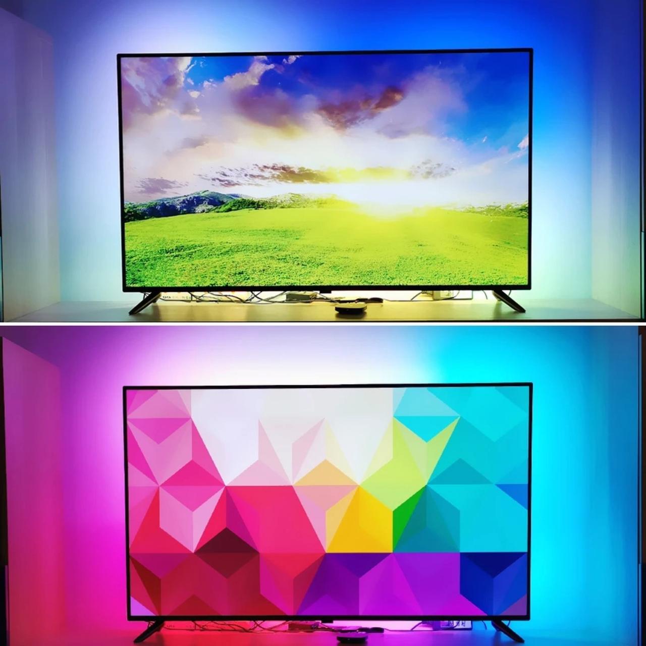 2 метра Интерактивная подсветка на 30светодиодов/м Ambilight для Android-TV и ПК