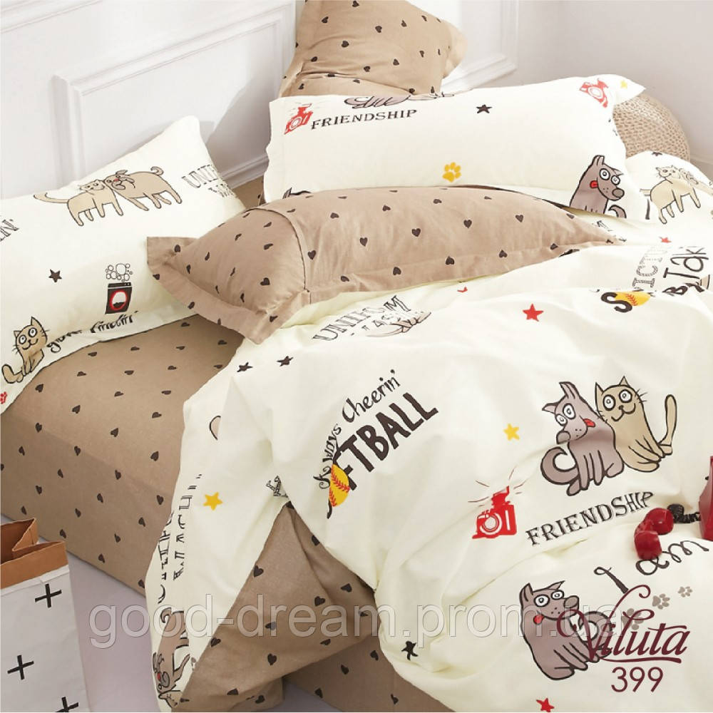 399 Комплект постельного белья подростковый сатин Viluta™