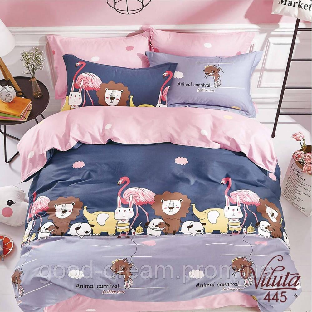 445 Комплект постельного белья подростковый сатин Viluta™