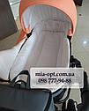 Детская коляска 2 в 1 Saturn Len Classik (Сатурн Лен Классик) Victoria Gold эко кожа персиковый, фото 5
