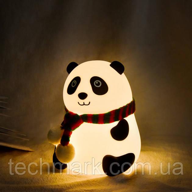 """Настольный светильник Детский силиконовый ночник """"Панда"""" LOSSO LJC-142-А"""