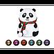 """Настольный светильник Детский силиконовый ночник """"Панда"""" LOSSO LJC-142-А, фото 5"""