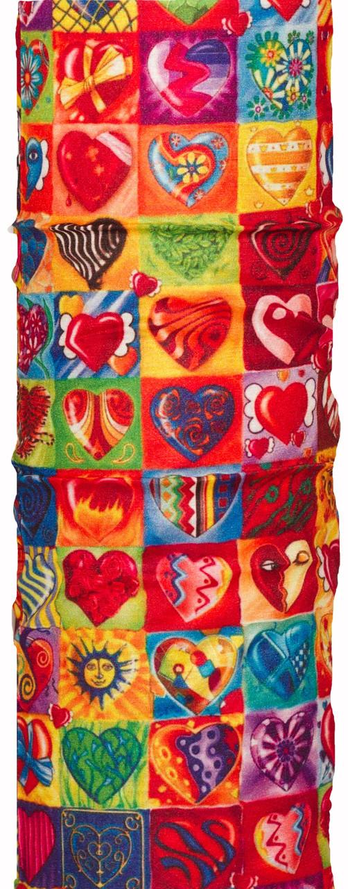 Бандана-трансформер (Бафф) Hearts (BT057)