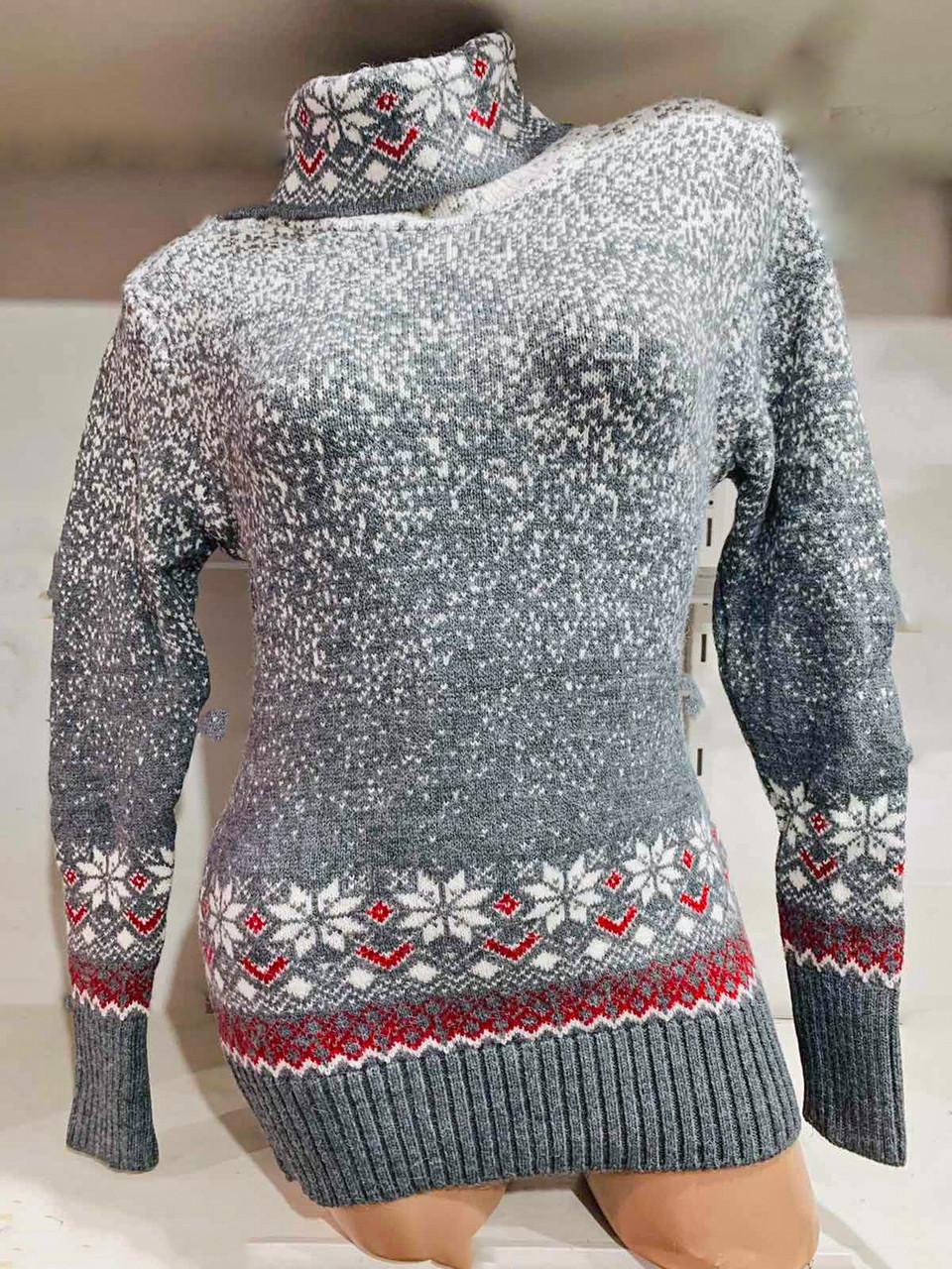Зимний теплый свитер с высоким горлом Gerekli 4682 (в расцветках 42-46)