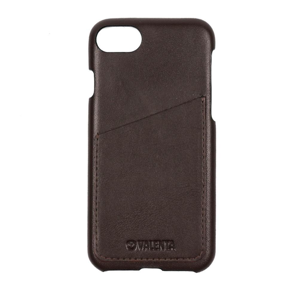 Чехол-накладка Valenta с карманом для Apple iPhone 7/8 Dark Brown (С1258ip7)