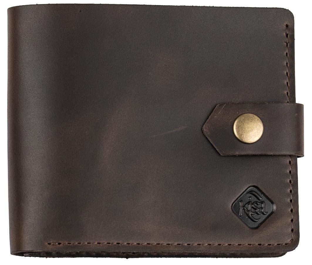 Чоловічий гаманець Kisa Темно-коричневий