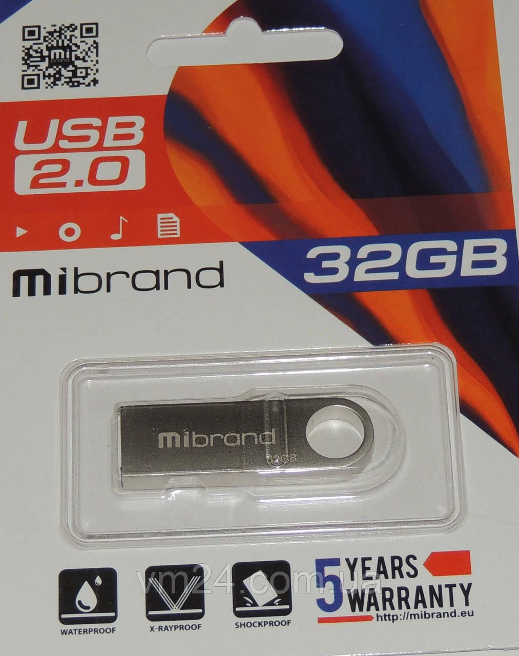 USB флеш Mibrand 32GB 2.0 Metal гарантія 2 роки
