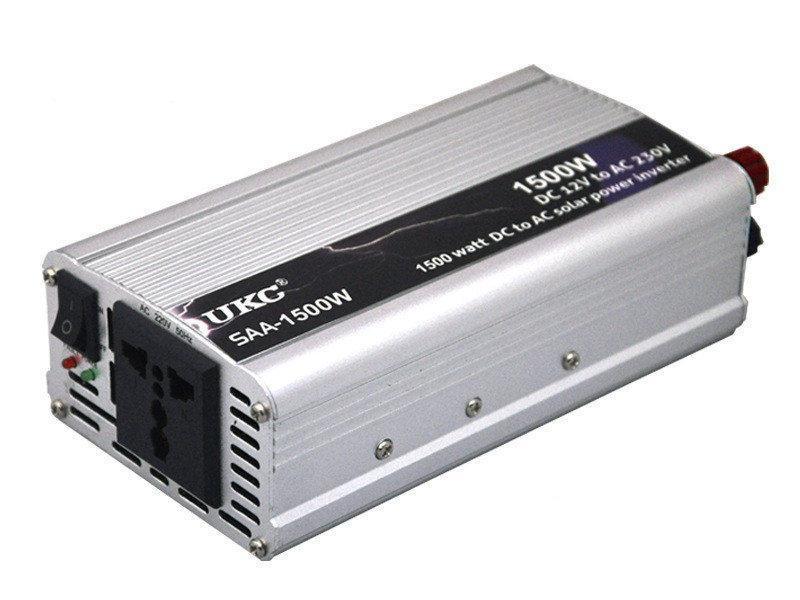 Інвертор автомобільний перетворювач напруги UKC 1500W (004886)