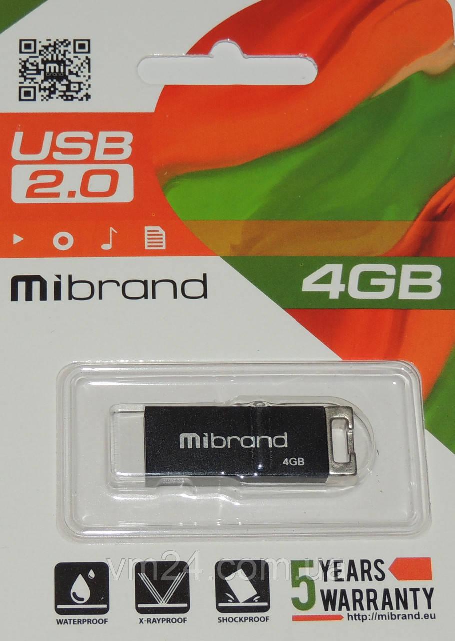 USB флеш Mibrand 4GB 2.0 Metal гарантія 2 роки