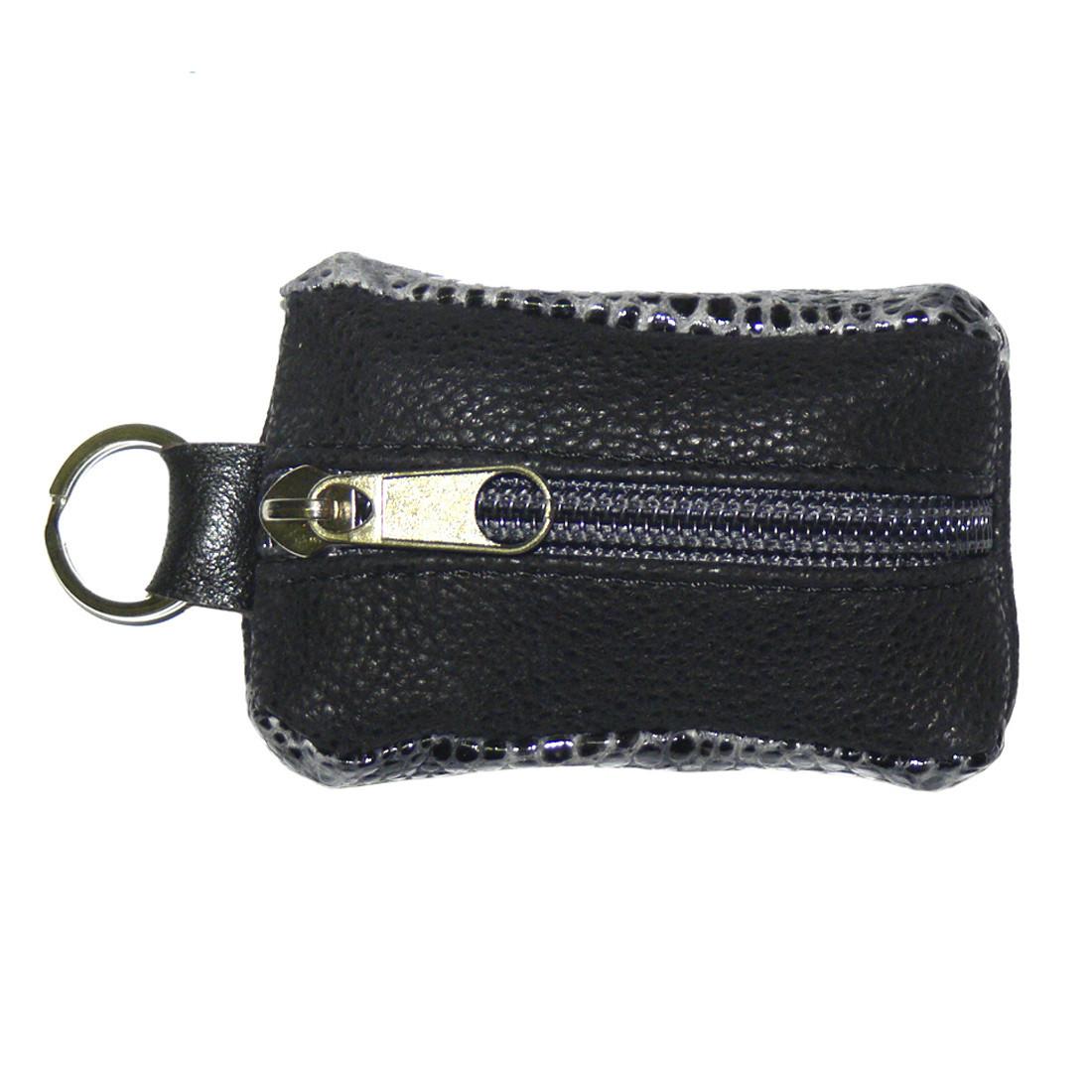 Ключниця-футляр BagHouse 7.5 х 4 см Чорно-сірий (фф7ч сер)