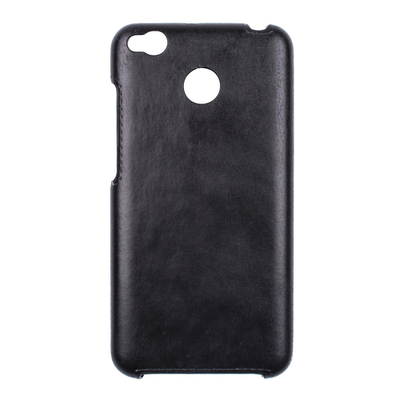 Панель Valenta для телефона Xiaomi Redmi 4X Кожзам Черный (C1221xred4x-1)