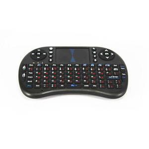 Клавиатура беспроводная MHZ MWK08/i8 LED touch  с подсветкой Черный (007442)