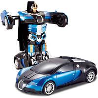 Машинка трансформер Bugatti на радиоуправлении | Радиоуправляемый Спорткар-трансформер Bugatti | Трансформер