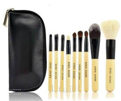 Набор 9 кистей для макияжа в косметичке BOBBI BROWN (bnnhll2007)