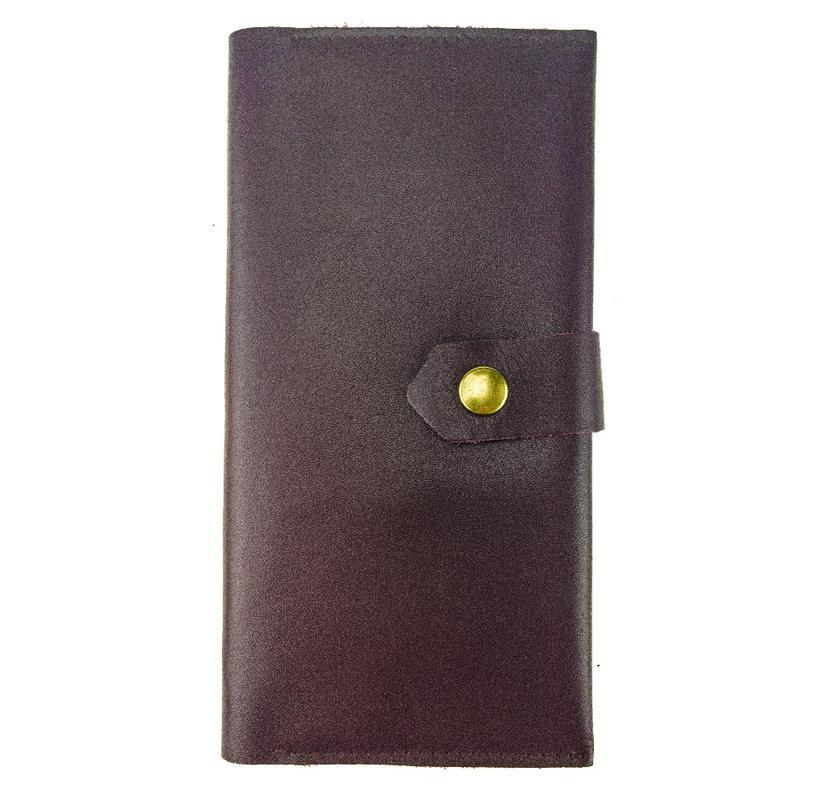 Кожаный кошелек KISA 18.5 x 8.5 x 1.2 см Марсала (ХР186S_4)