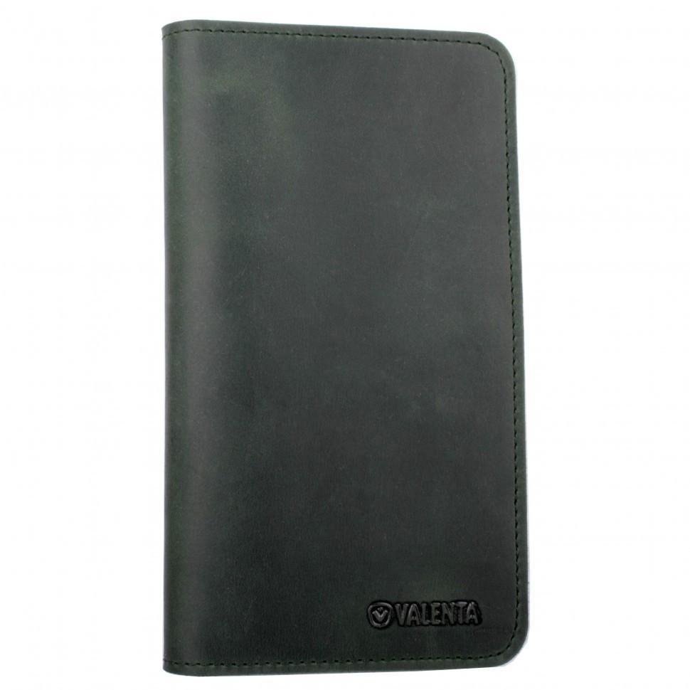 Чехол-кошелек для телефона Valenta нубук Зеленый (115369xl_h)