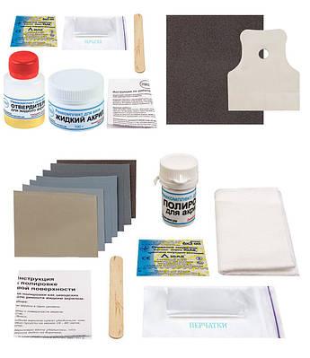Ремонтный набор для акриловых ванн ПРОСТО И ЛЕГКО для сколов и микротрещин с полировкой 100 г Белый